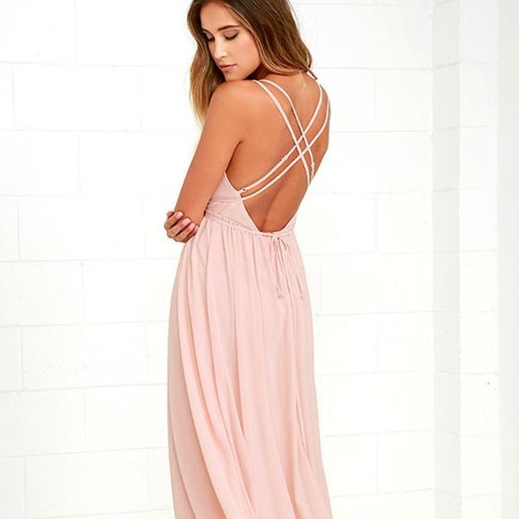 8146dd497a Lulus Nordstrom Flutter Blush Pink Maxi Dress
